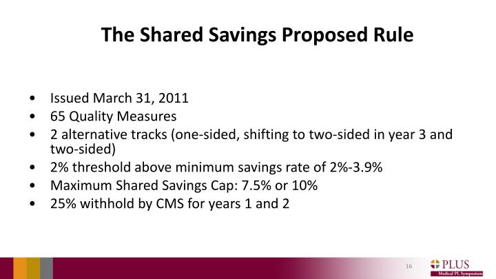 The Shared Savings Proposed Rule