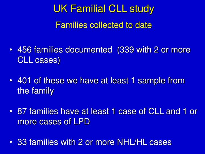 UK Familial CLL study