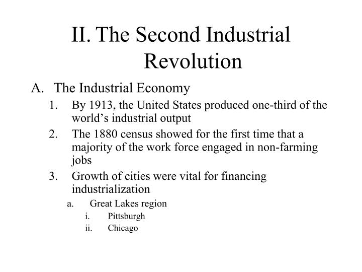 Ii the second industrial revolution