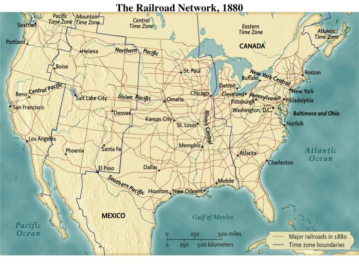 The Railroad Network, 1880