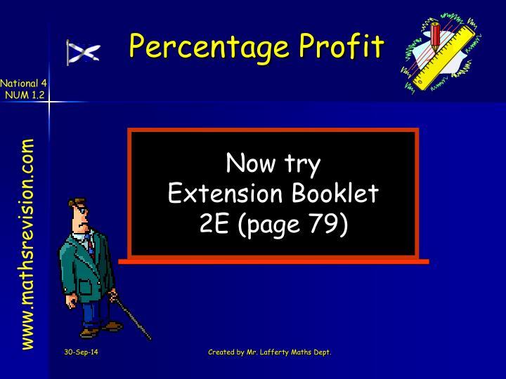 Percentage Profit