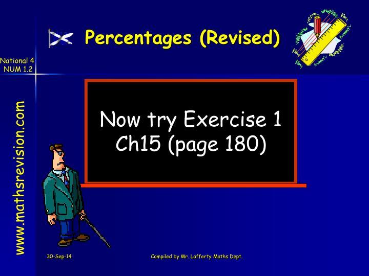 Percentages (Revised)