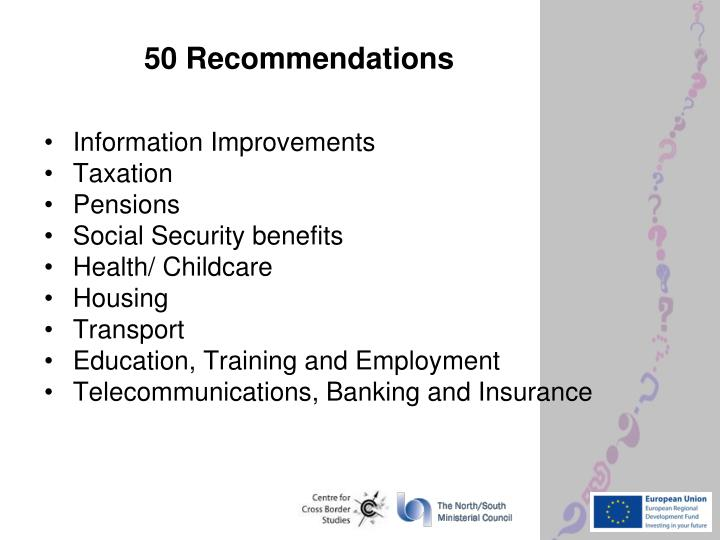 50 recommendations