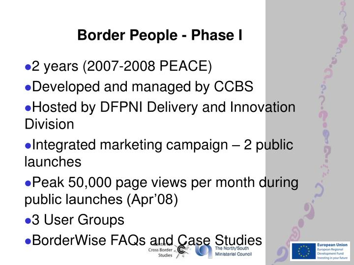 Border People - Phase I