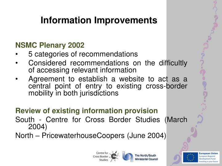 Information Improvements