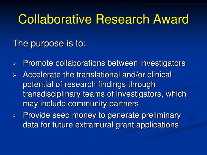 Collaborative Research Award