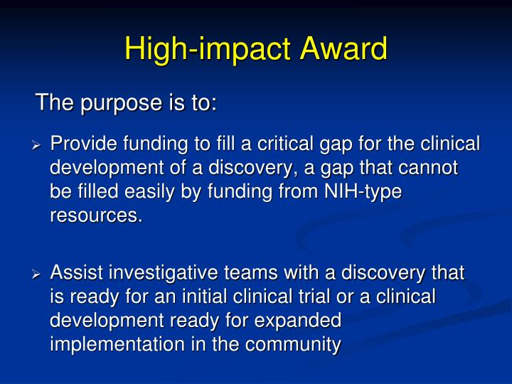High-impact Award
