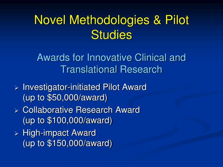 Novel Methodologies & Pilot Studies