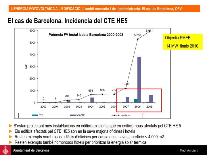 El cas de Barcelona. Incidencia del CTE HE5