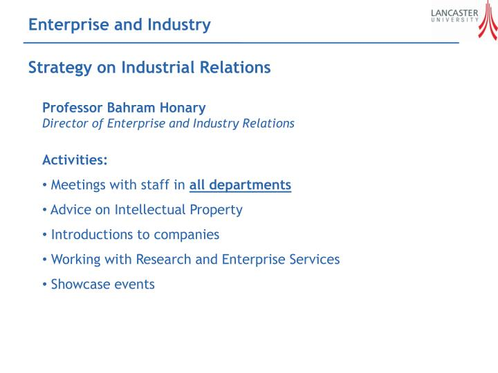 Enterprise and Industry