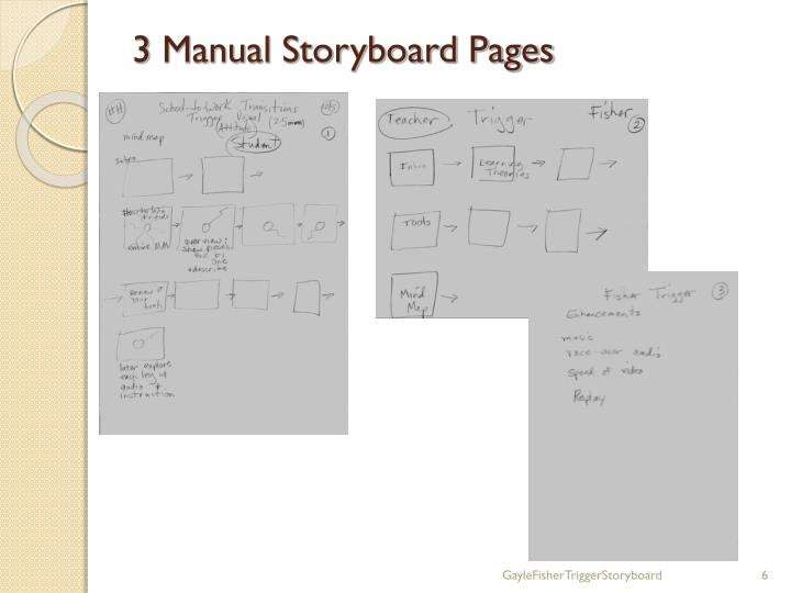 3 Manual Storyboard Pages