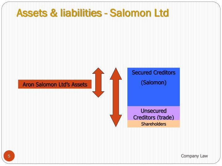 Assets & liabilities - Salomon Ltd
