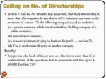 ceiling on no of directorships