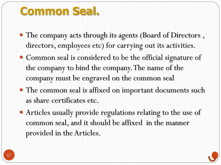 Common Seal.