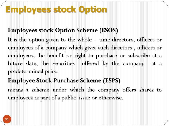 Employees stock Option