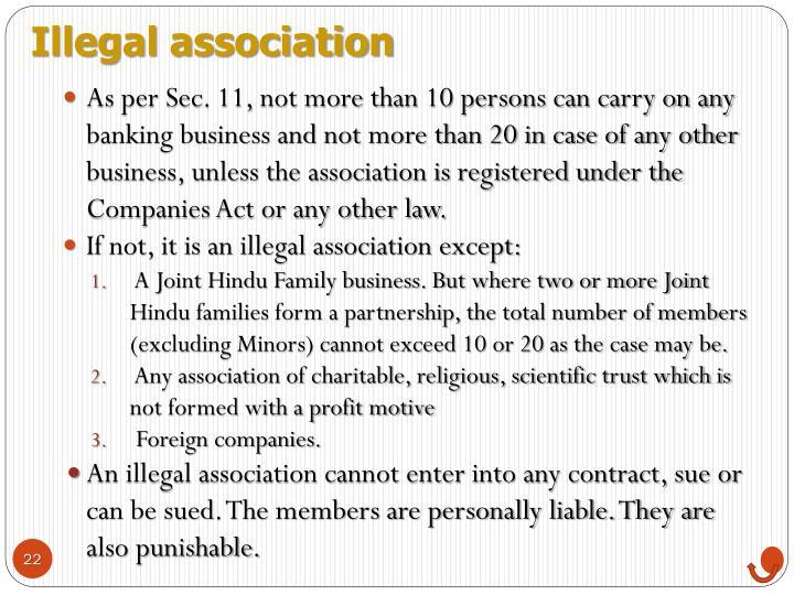 Illegal association