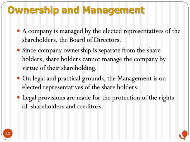 Ownership and Management