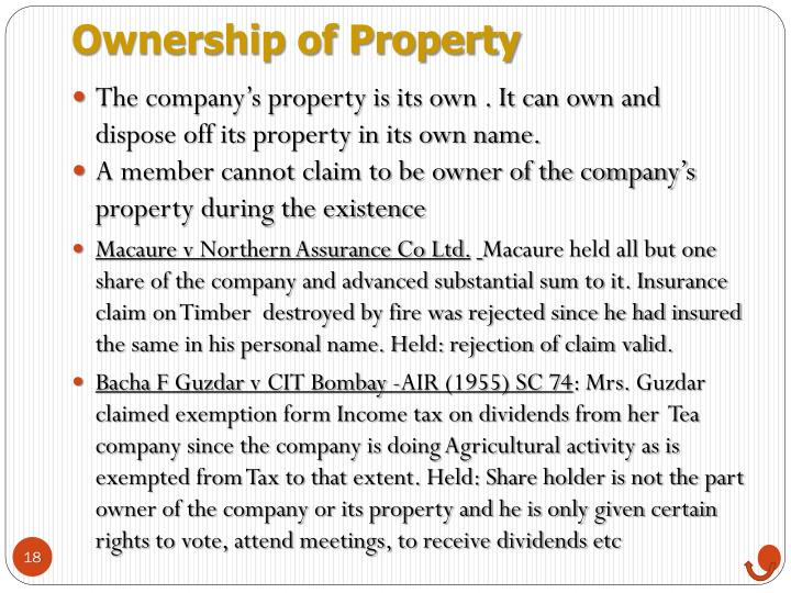 Ownership of Property