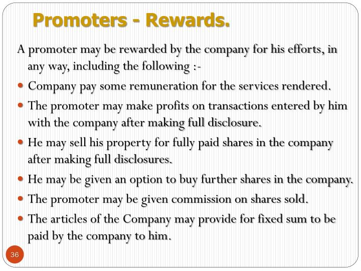 Promoters - Rewards.