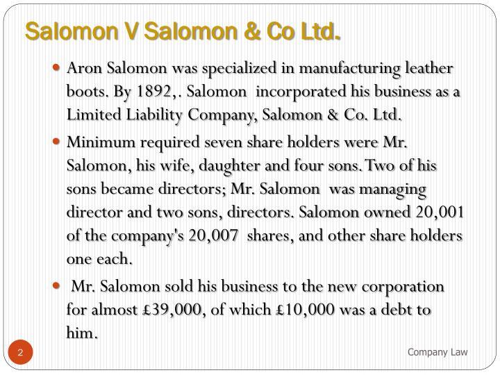 Salomon V Salomon & Co Ltd.