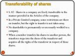 transferability of shares