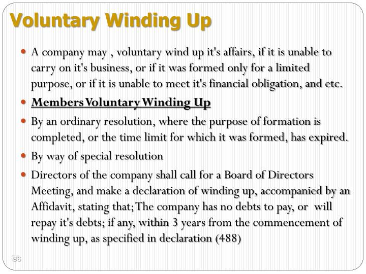 Voluntary Winding Up