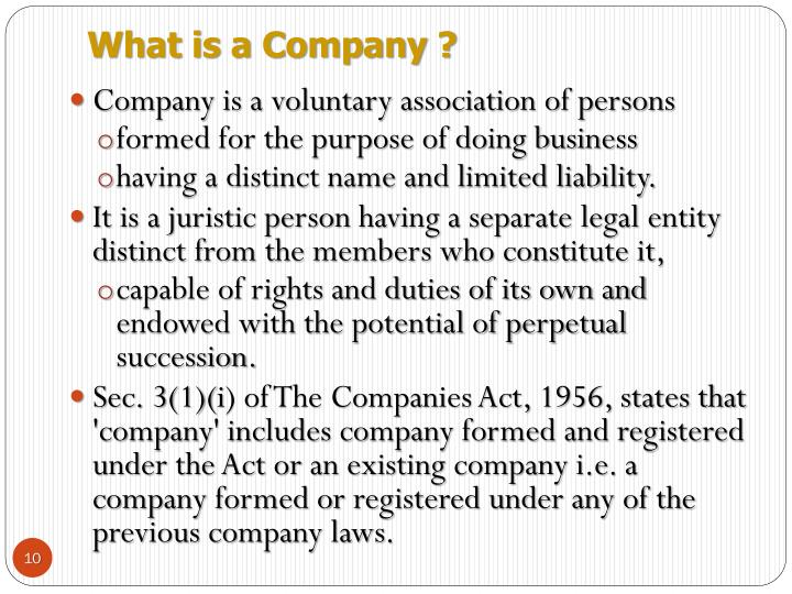 What is a Company ?