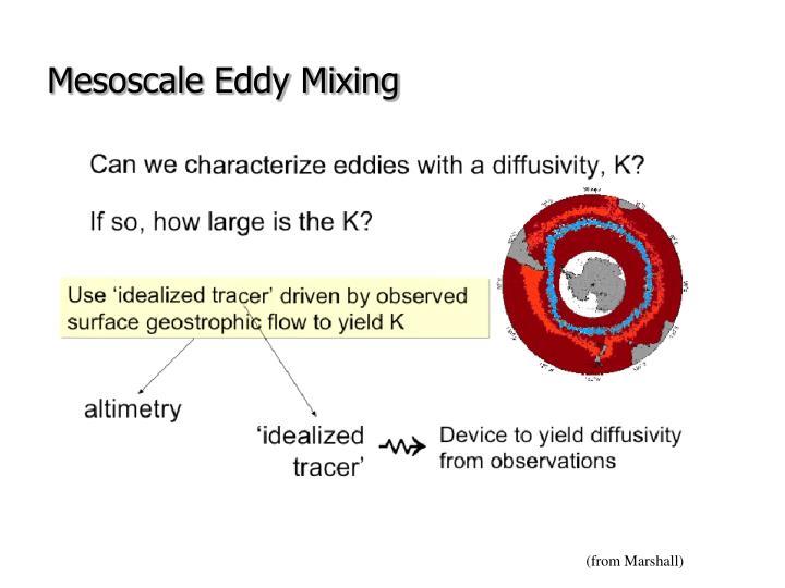 Mesoscale Eddy Mixing