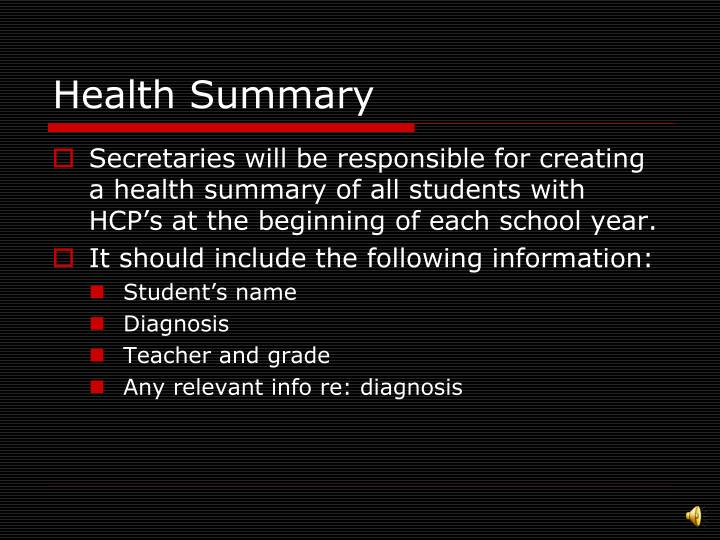 Health Summary