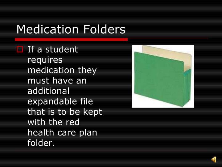 Medication Folders