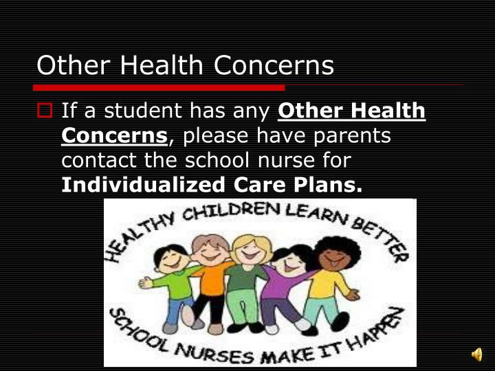 Other Health Concerns