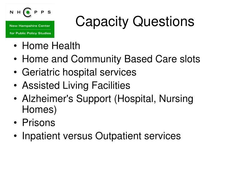 Capacity Questions