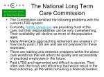 the national long term care commission