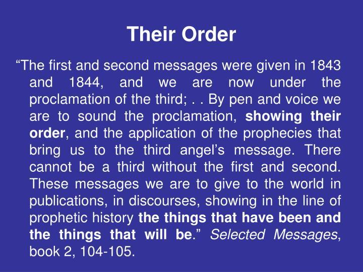 Their Order