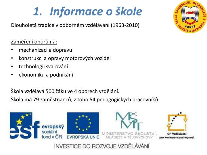 Informace o škole