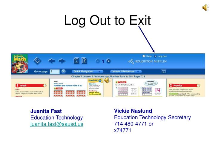 Log Out to Exit