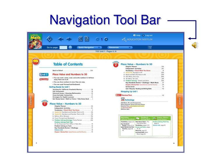 Navigation Tool Bar
