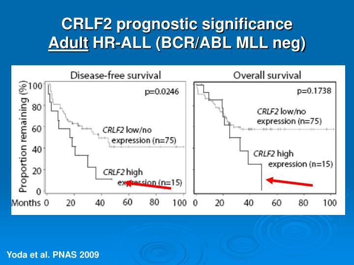 CRLF2 prognostic significance