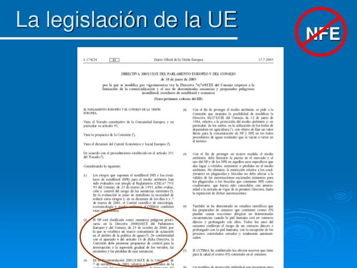 La legislación de la UE