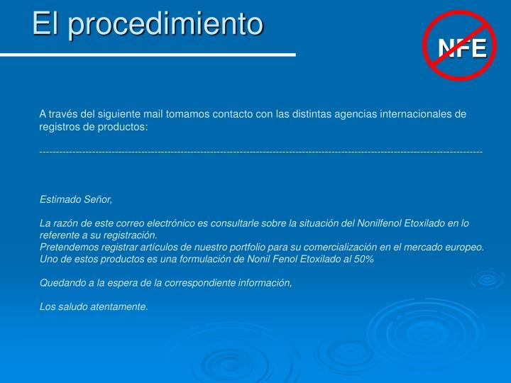 El procedimiento