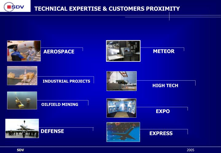 TECHNICAL EXPERTISE & CUSTOMERS PROXIMITY