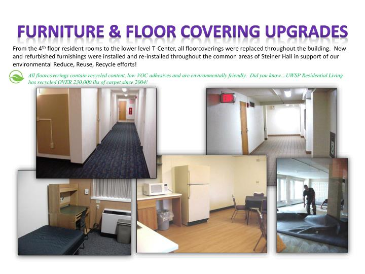 Furniture & FLOOR COVERING UPGRADES