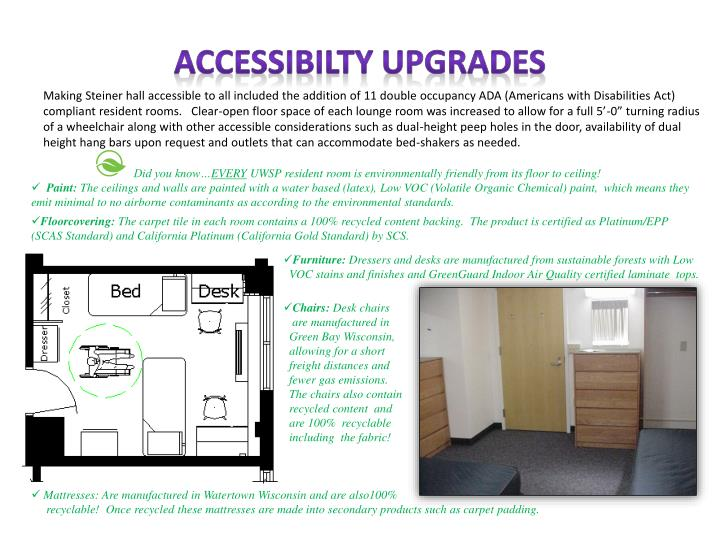 ACCESSIBILTY UPGRADES