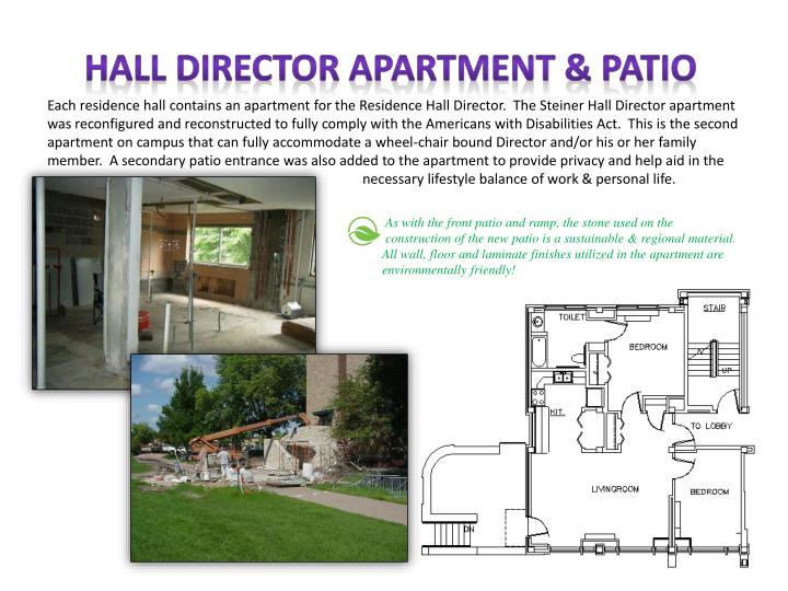 HALL DIRECTOR APARTMENT & PATIO