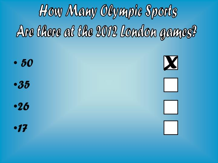 How Many Olympic Sports