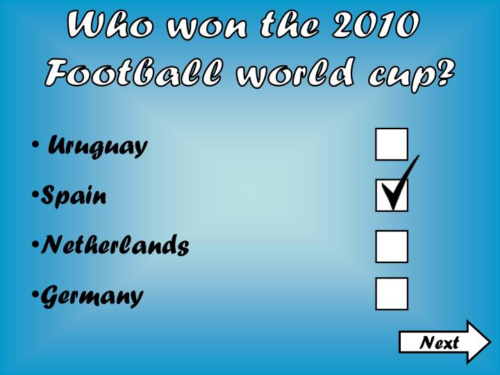 Who won the 2010