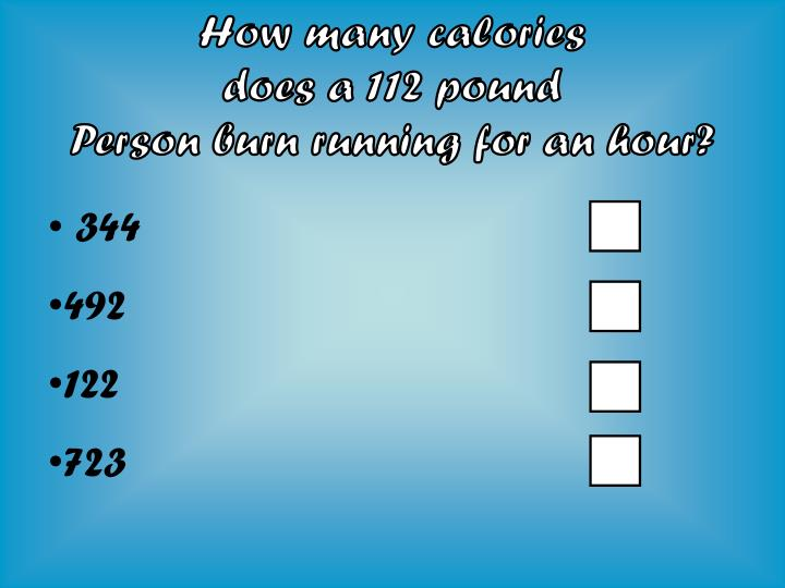 How many calories