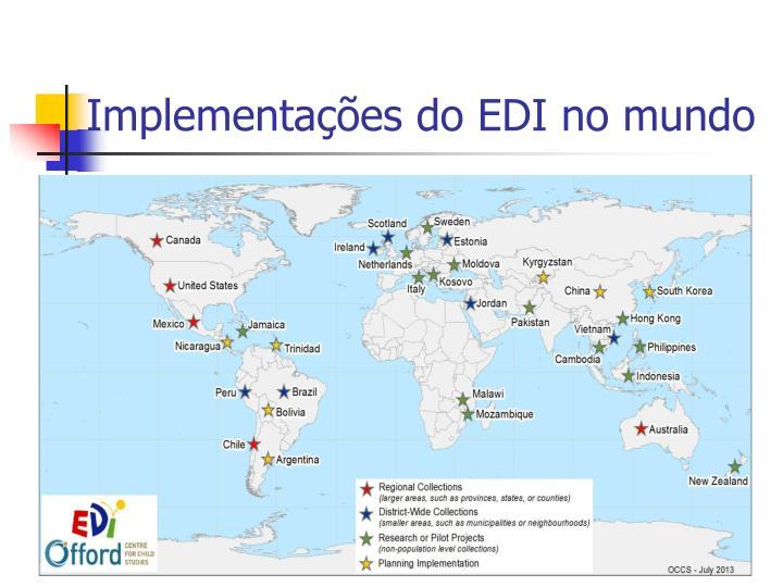 Implementações do EDI no mundo