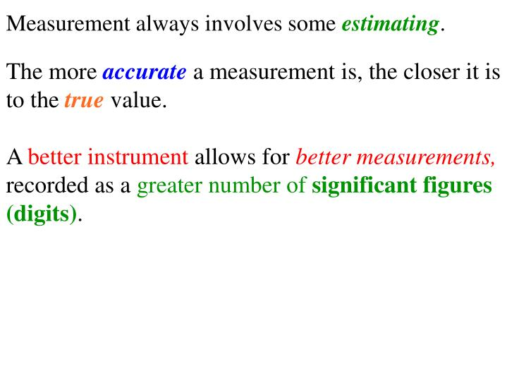 Measurement always involves some