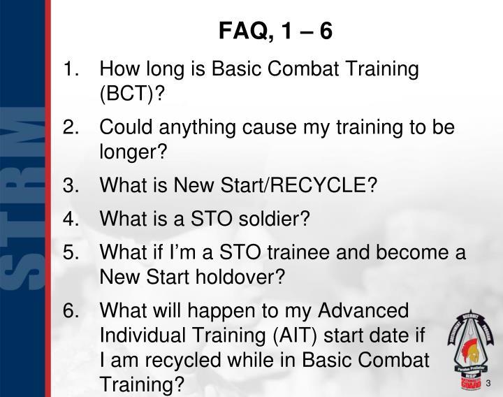 FAQ, 1 – 6